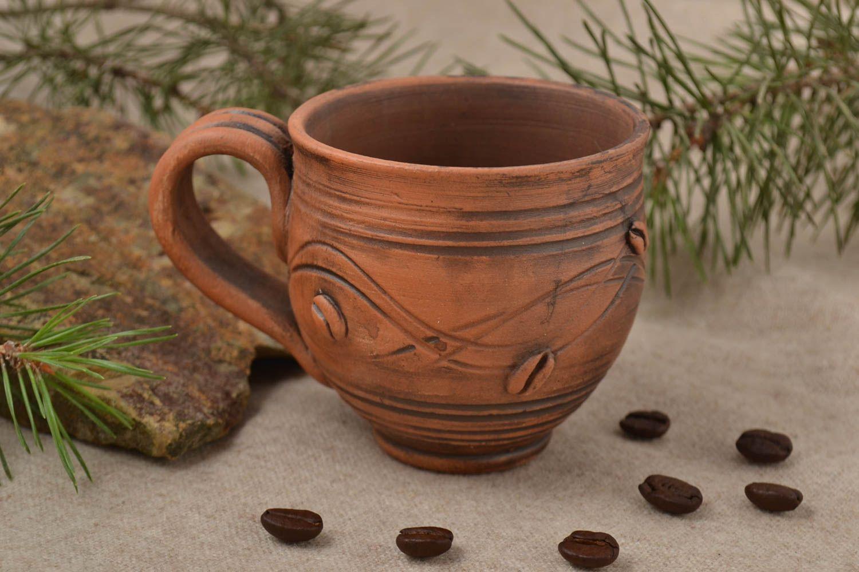 madeheart taza de barro para el te hecha a mano