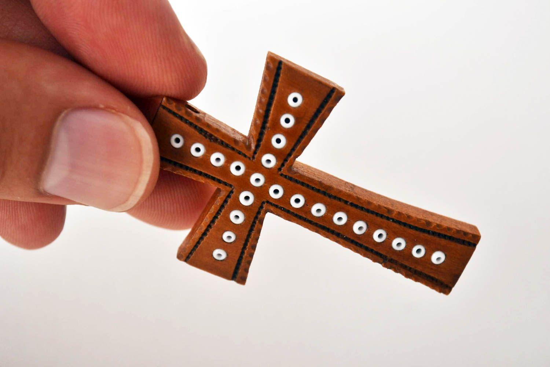MADEHEART Крестик нательный крест ручной работы деревянный крестик на шею оригинальный