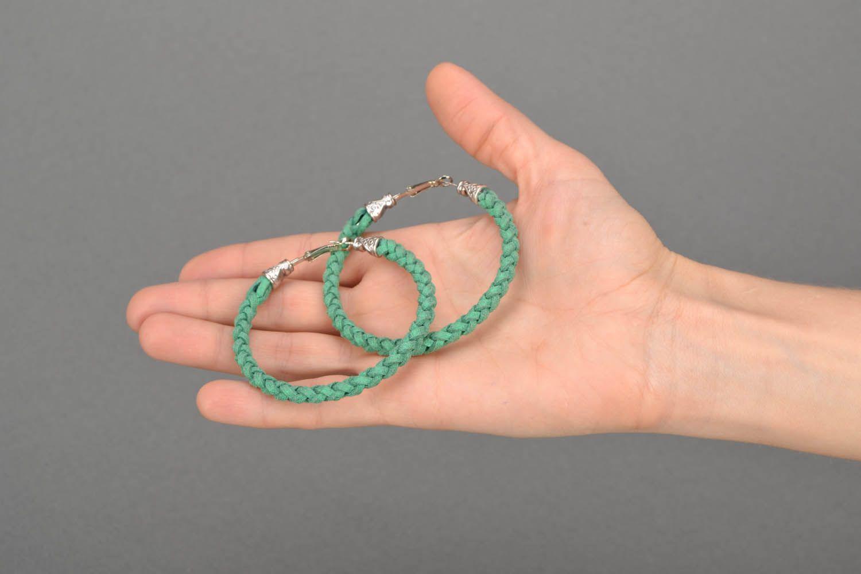 Green woven bracelet photo 2