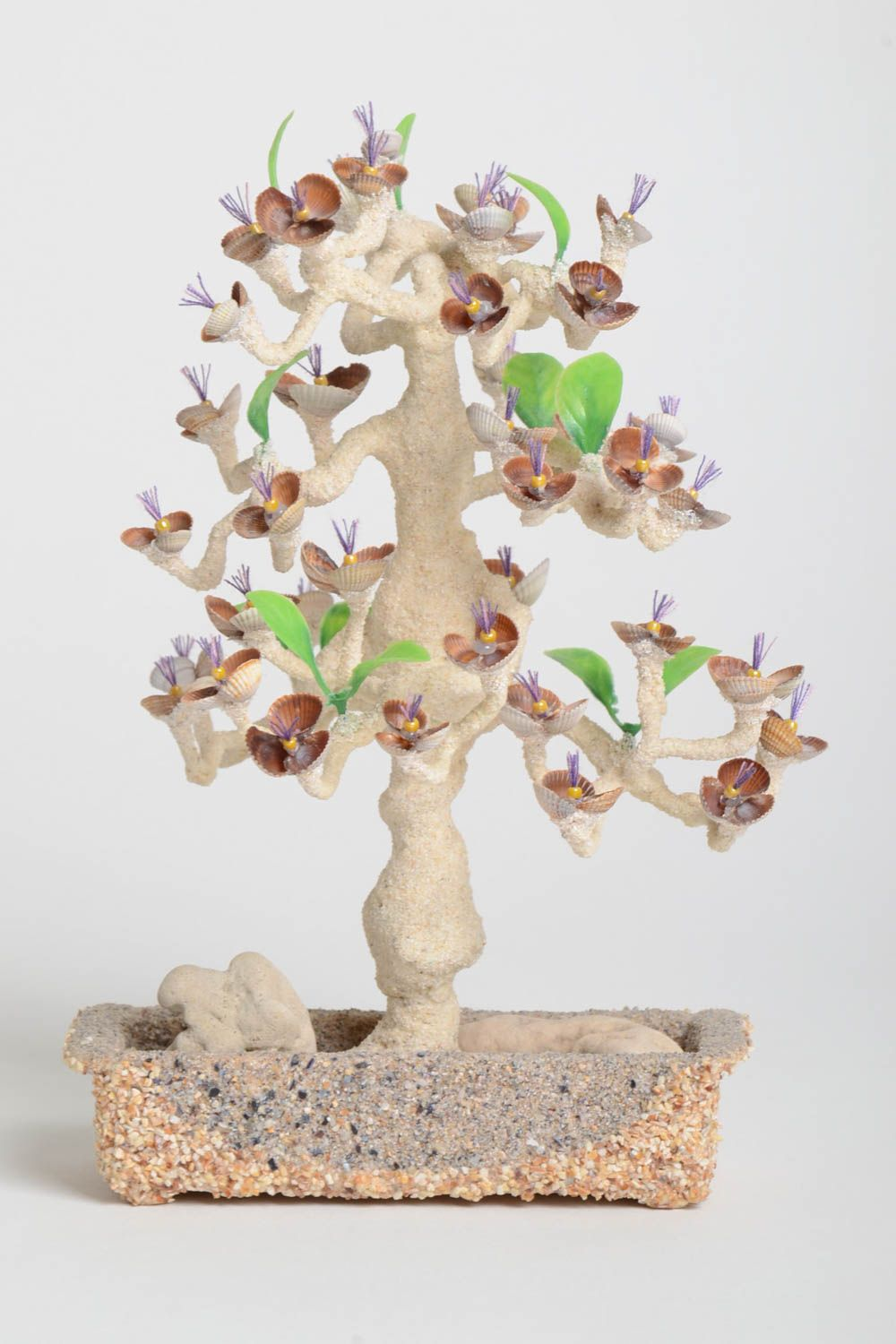 Handmade tree with flowers tree with artificial flowers home decor table decor photo 2