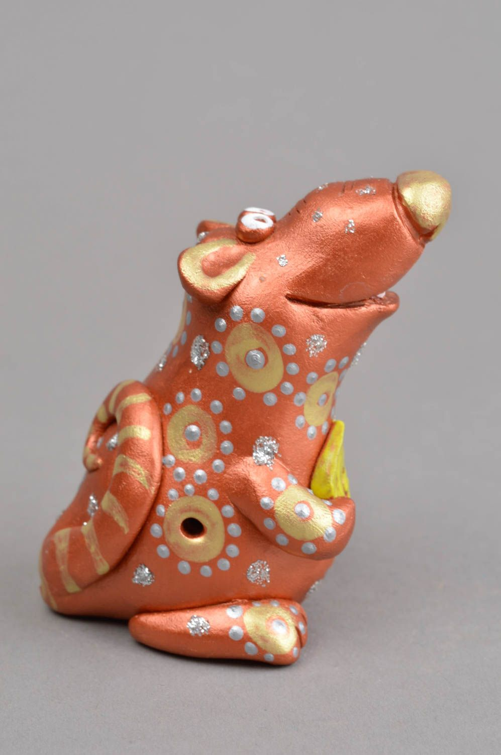 Clay whistle handmade ceramic figurine present for children clay animal whistle photo 3