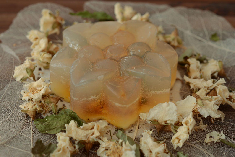 Beautiful soap with jasmine flowers photo 3
