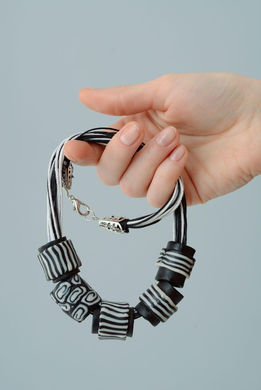 Polymerton Halskette Zebra foto 5