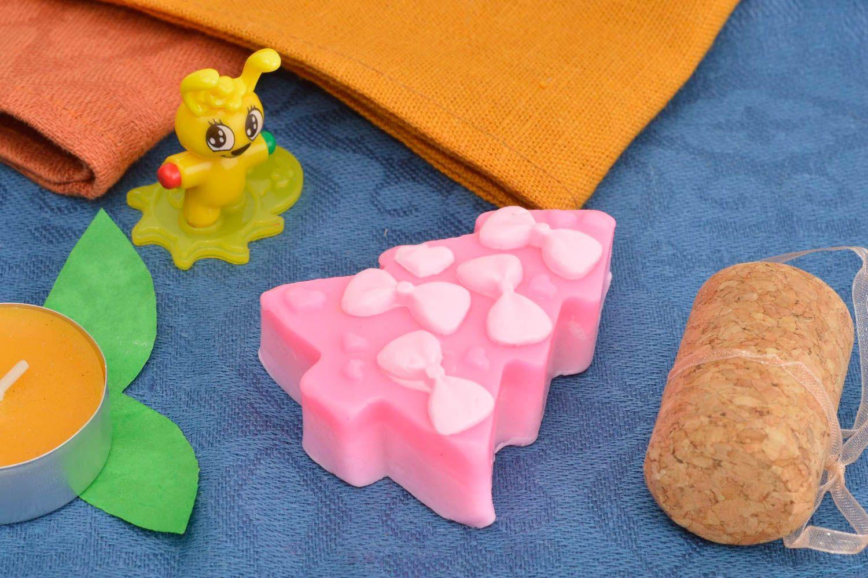 Natural soap Christmas decor natural cosmetics handmade designer soap bath decor photo 1