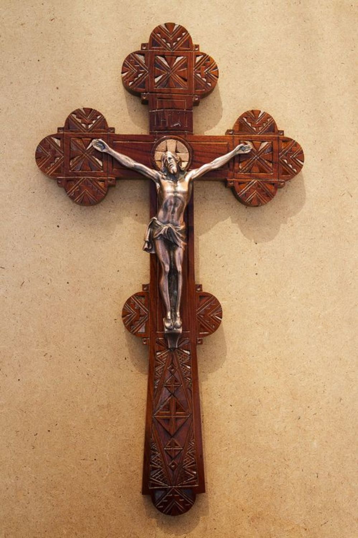 decorative crosses Wooden Orthodox Cross - MADEheart.com