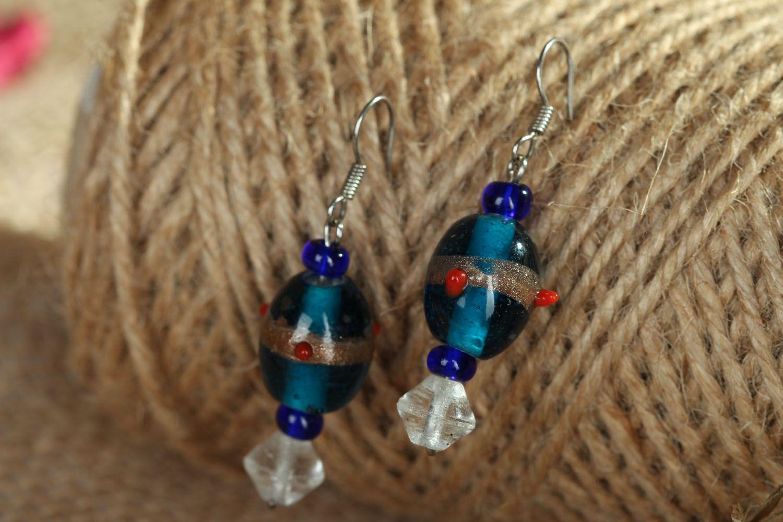 Glass earrings photo 4