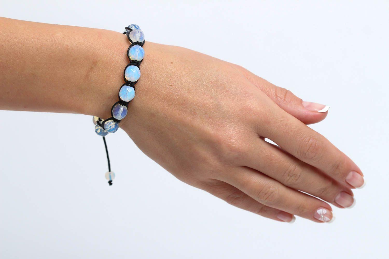 Handmade bracelet beaded bracelet gemstone jewelry designer accessories photo 5