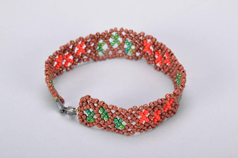 Hand woven wrist bracelet photo 2