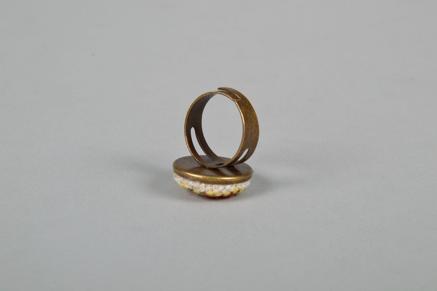 Women's seal ring with embroidery photo 4
