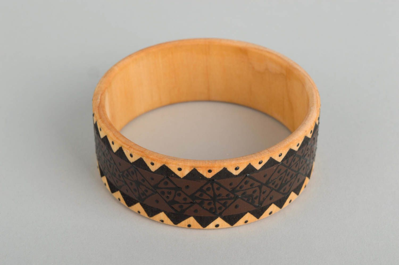 Браслеты ручной работы браслет из дерева красивый браслет дизайнерское украшение фото 2