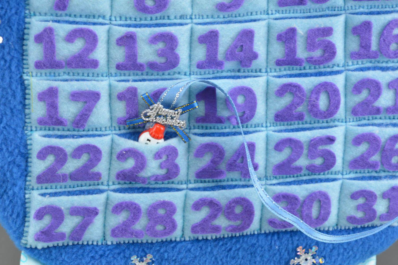 Calendrier Tissu Educatif.Joli Calendrier Educatif De Tissus Fait Main Jouet De Noel Pour Enfant Cadeau