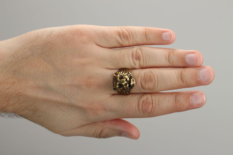 Fingerring aus Bronze Löwe foto 4