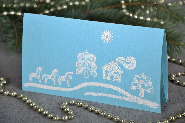 Blue greeting card photo 1