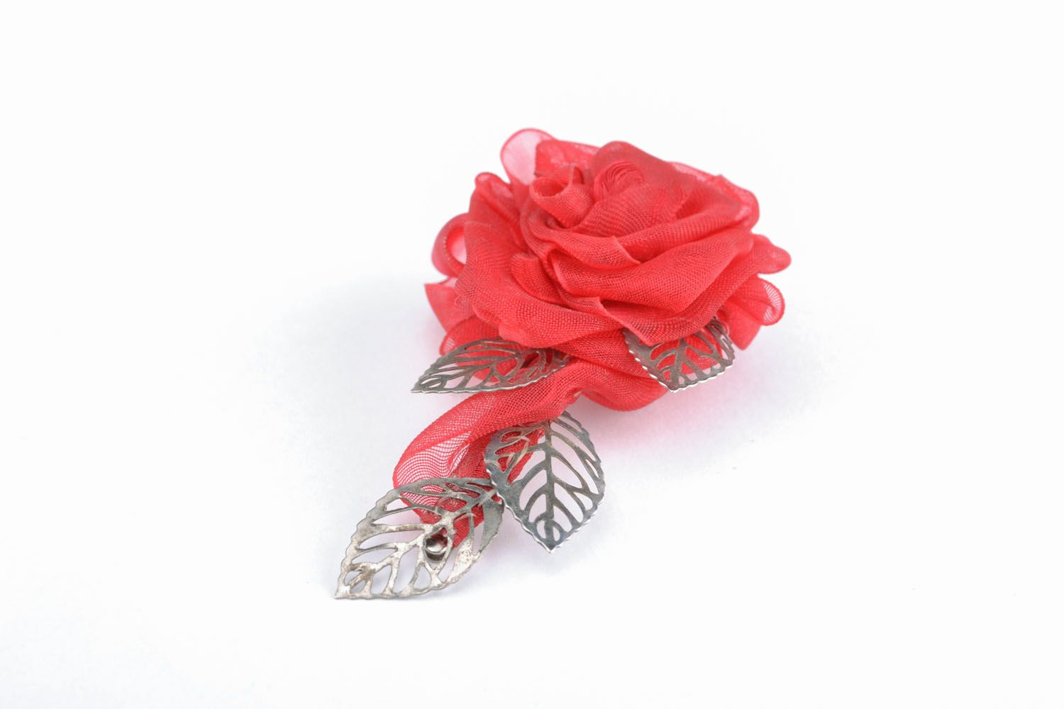Brooch hair clip in the shape of flower photo 1