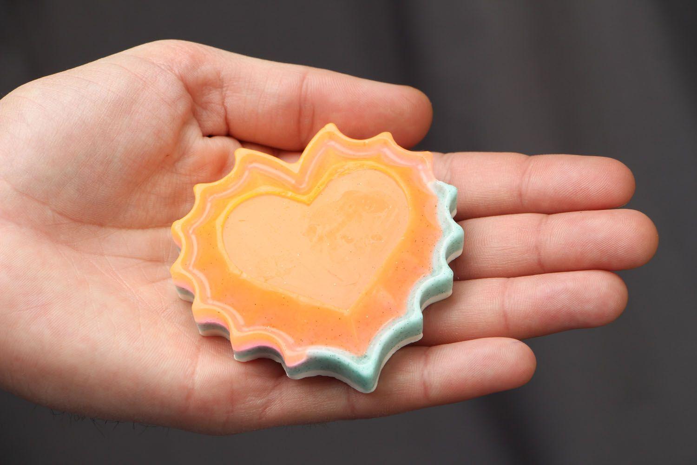 Heart-shaped gift soap photo 3