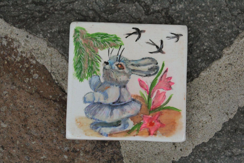 Ceramic fridge magnet Bunny photo 1