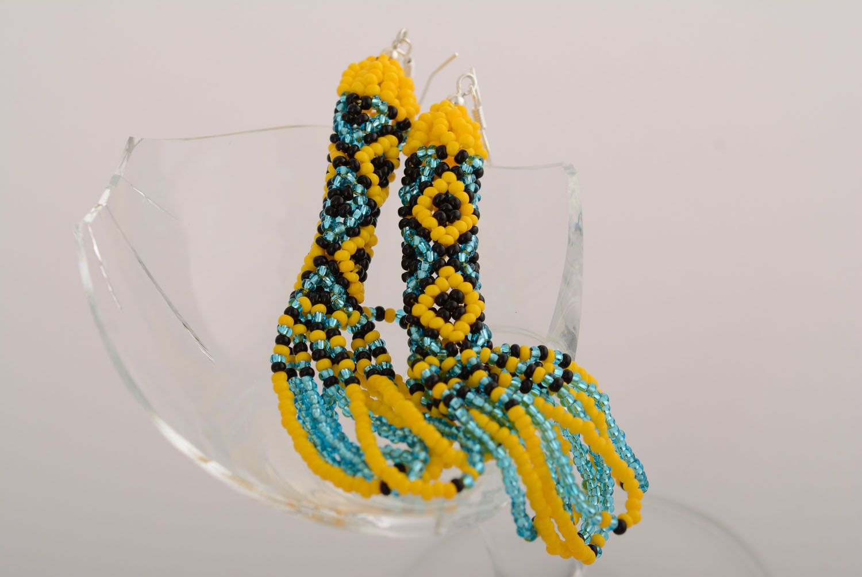 Ethnic beaded earrings photo 2