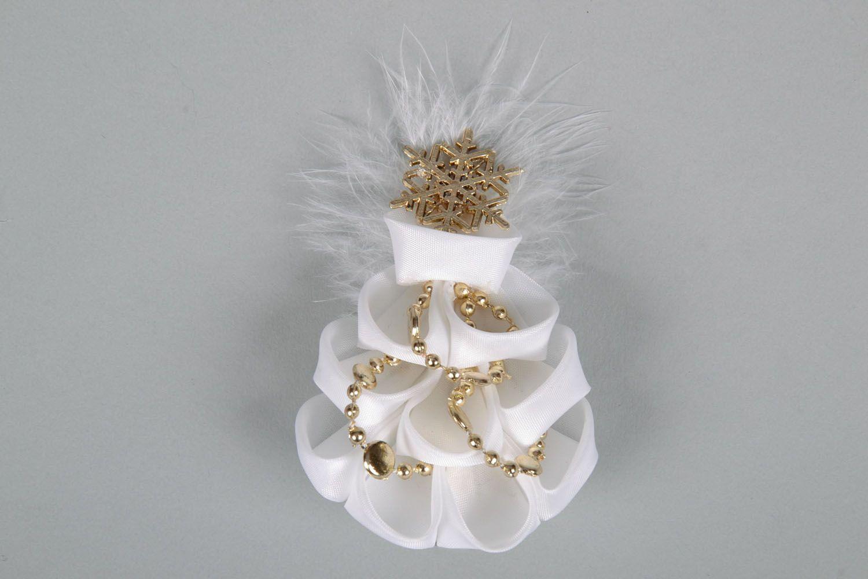 White hair clip Christmas Tree photo 4