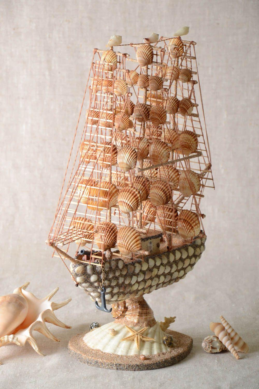 Кораблик из ракушек мастер класс