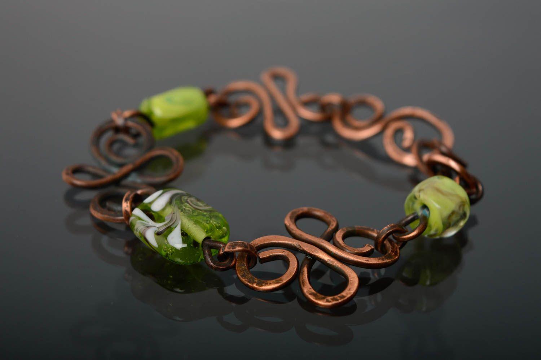 Copper wrist bracelet photo 1
