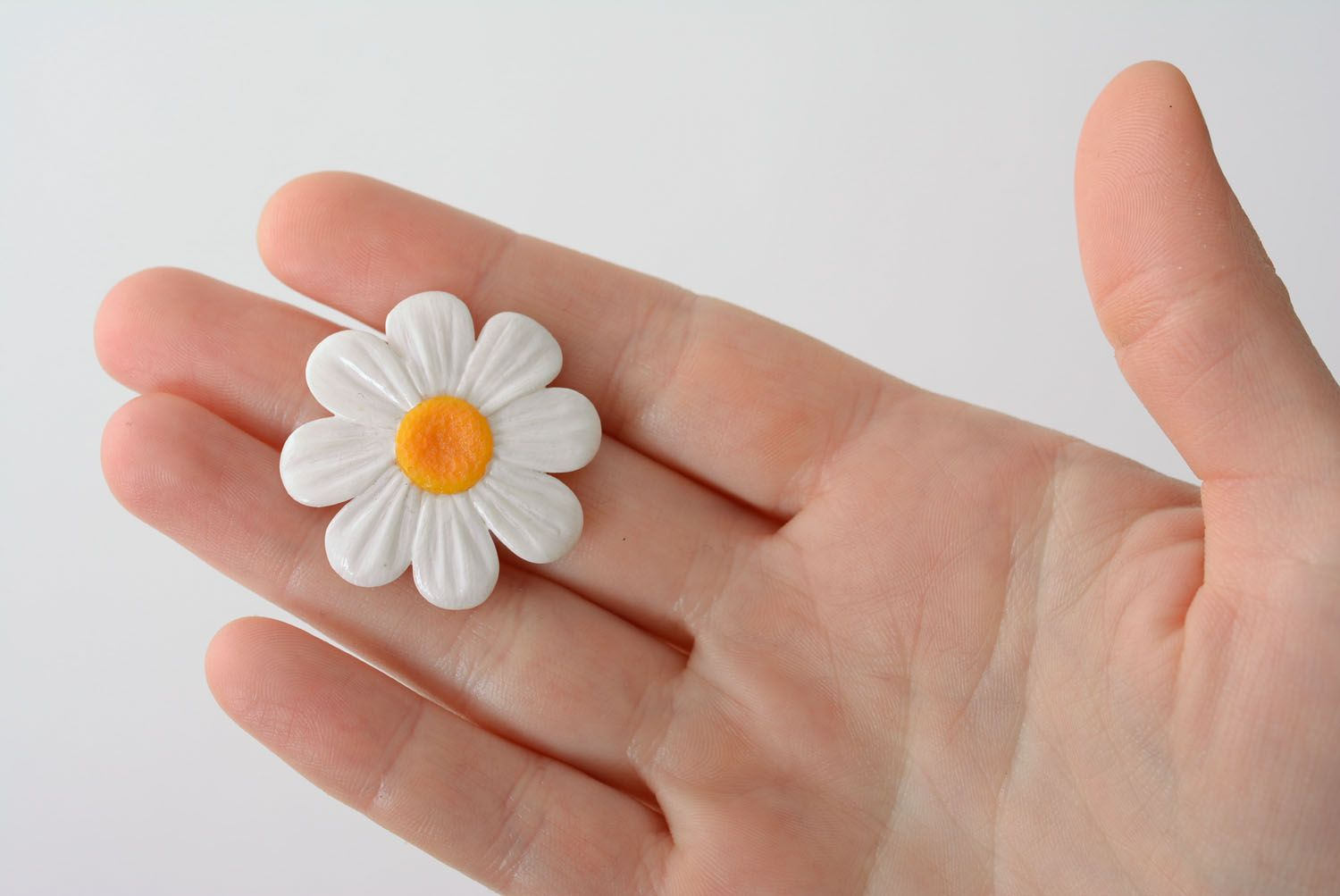 Polymer clay flower ring photo 5