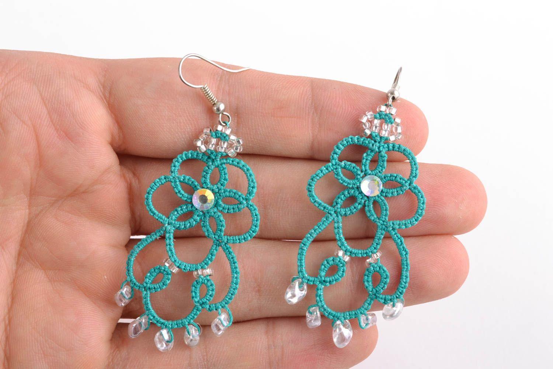 Designer Ohrringe in Blau foto 2
