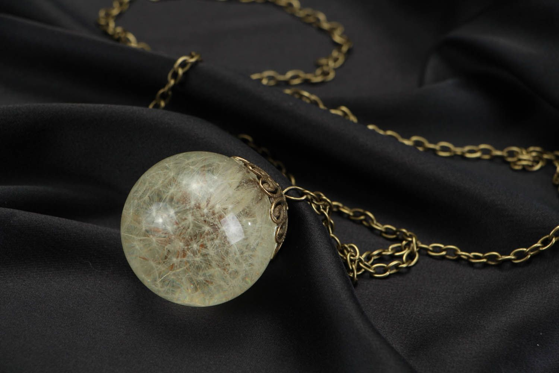 Pendant with dandelion  photo 3
