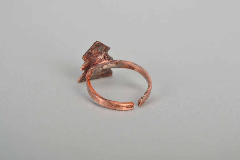 Kleiner Ring aus Kupfer Tannenbaum foto 4