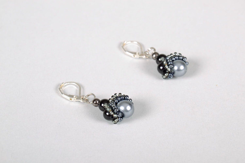 Lange Ohrringe in Schwarz foto 3