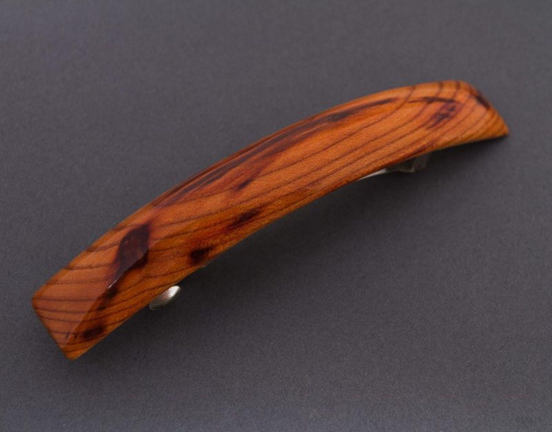 Деревянная заколка для волос фото 1