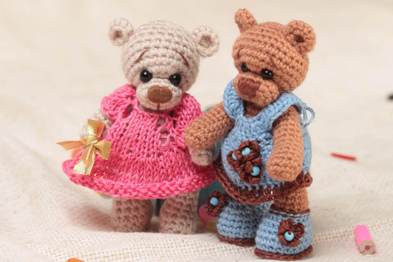 MADEHEART > Мягкие вязаные игрушки мишки набор из 2 штук ...