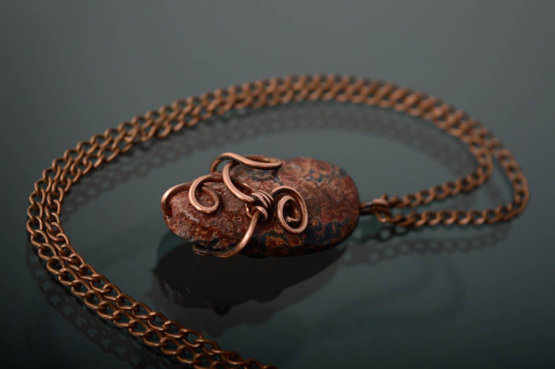 Anhänger aus Kupfer mit Jaspis foto 1