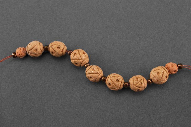 Керамический браслет в этническом стиле фото 3