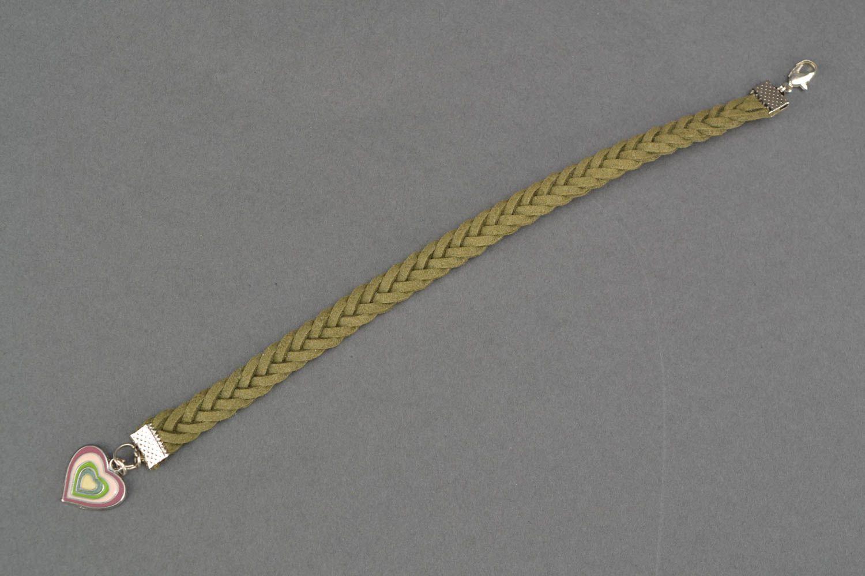 Woven suede bracelet for wrist photo 3