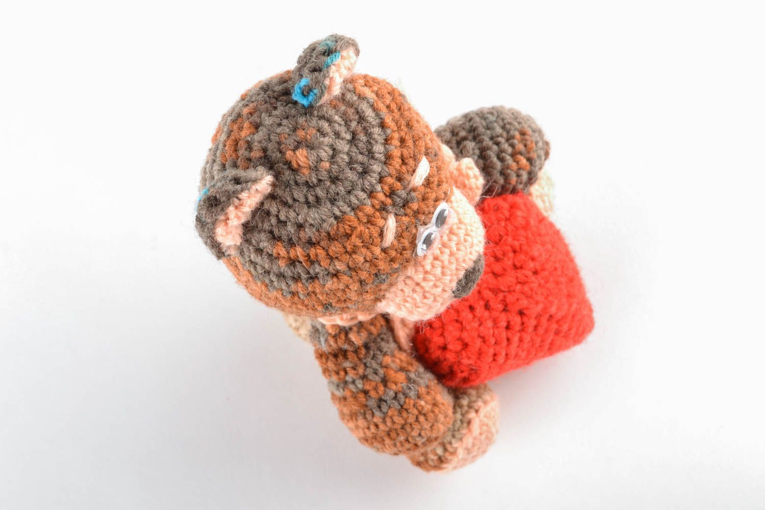 knitted toys Soft crochet designer toy Bear in Love - MADEheart.com