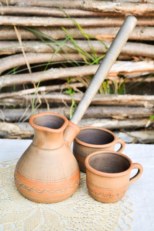 tea pots and coffee pots Handmade stylish cezve ceramic unusual kitchenware lovely kitchen decor - MADEheart.com