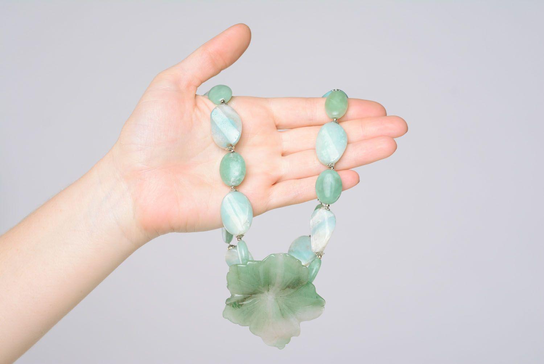 Halskette aus Naturstein foto 4