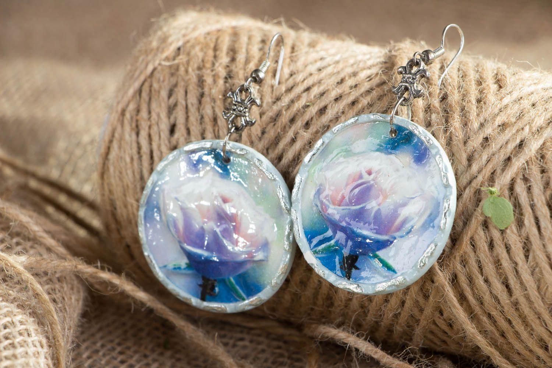 Homemade earrings Misty Rose photo 4