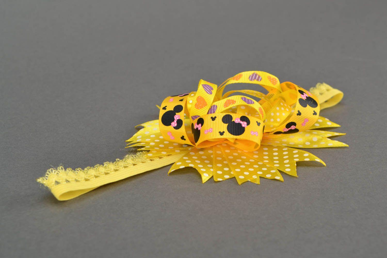 Homemade yellow headband photo 3