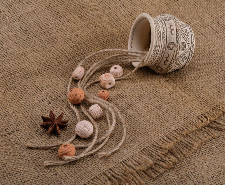 Clay beads photo 1