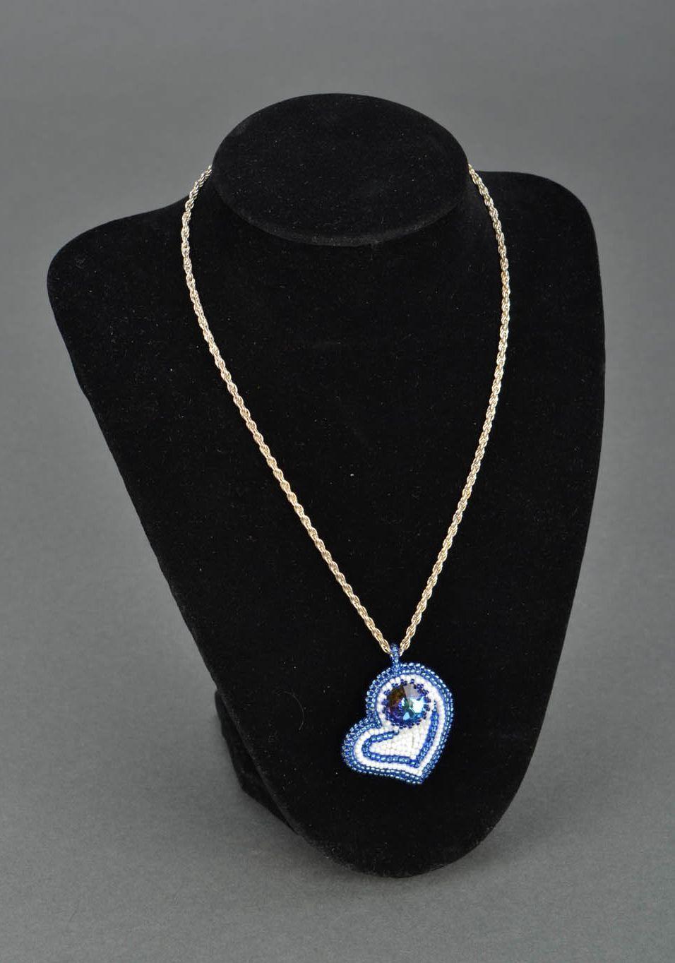 Handmade blue pendant photo 1