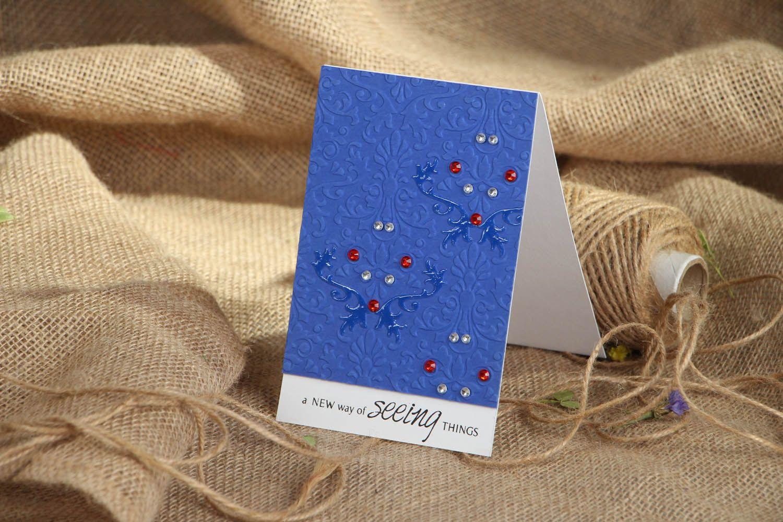 Homemade blue post card photo 4