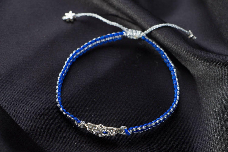 Geflochtenes Armband in Blau foto 1