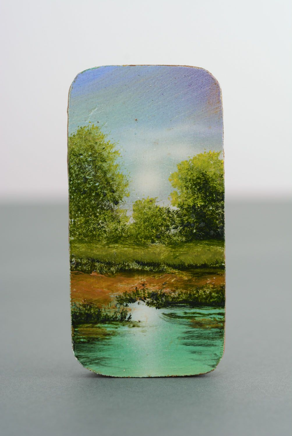Fridge magnet with painting Noon photo 4