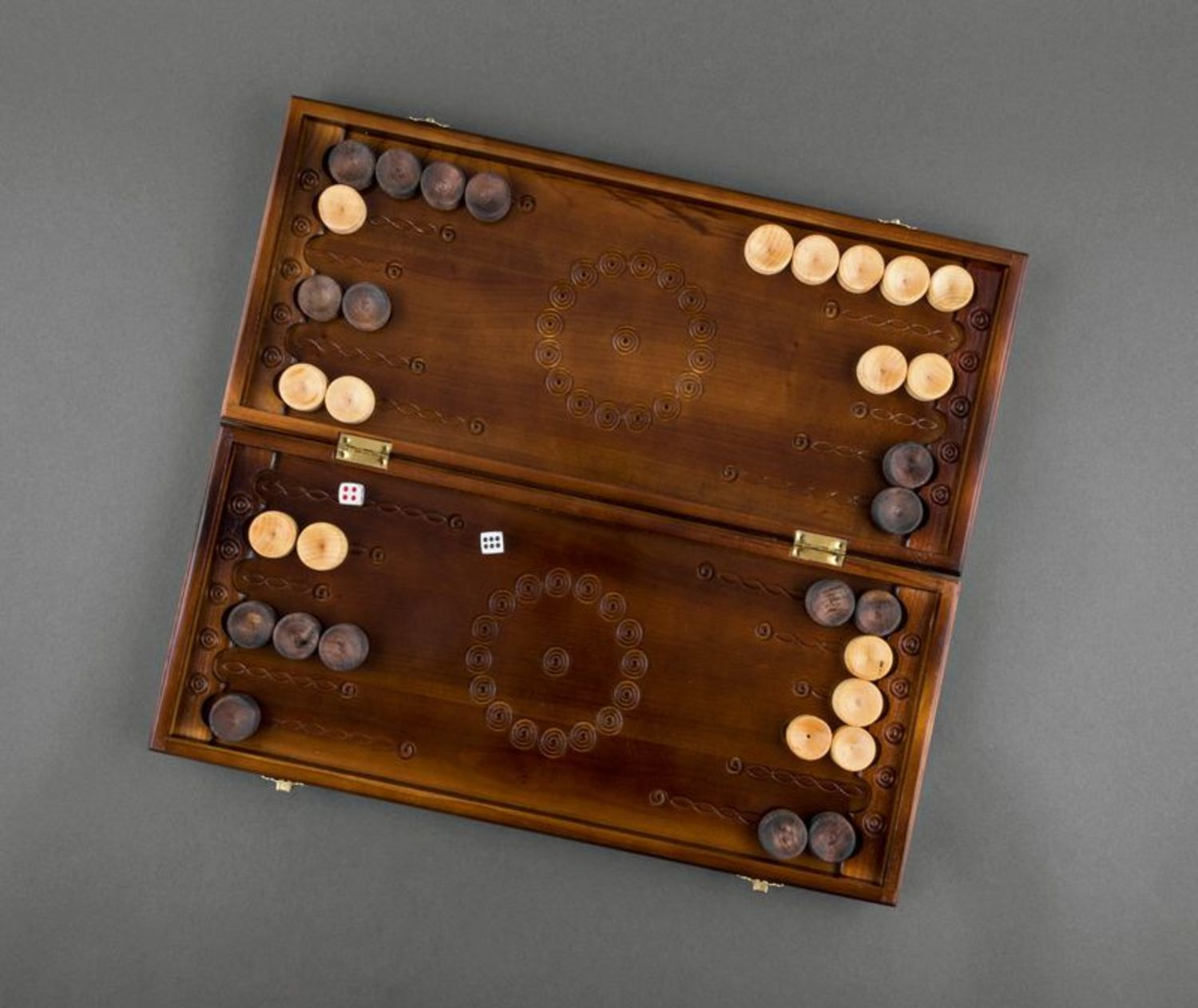 Handmade wooden backgammon photo 3