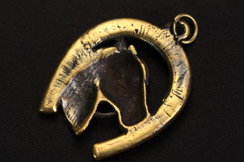 Кулон из бронзы Подкова фото 3