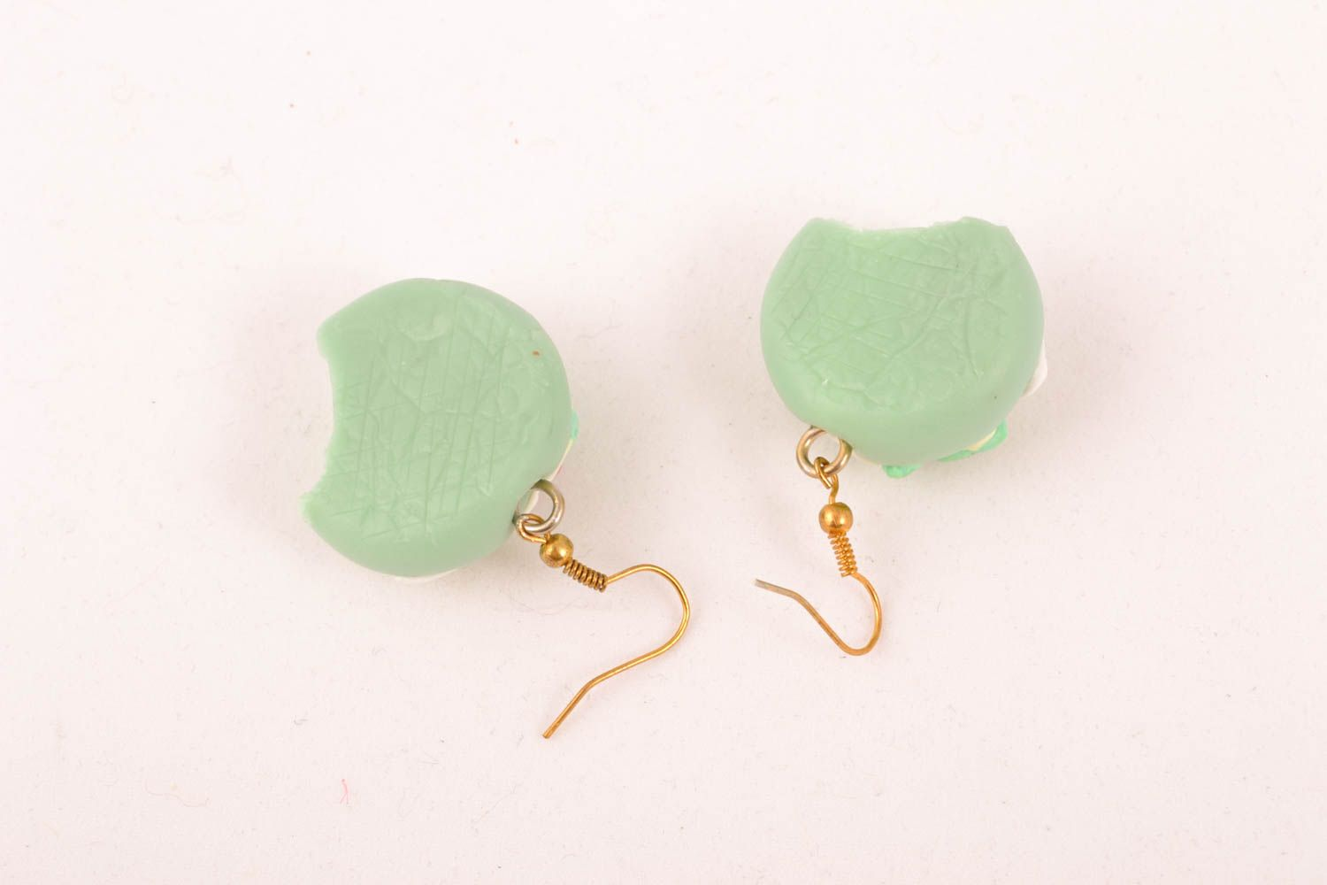 Plastic earrings with charms photo 3