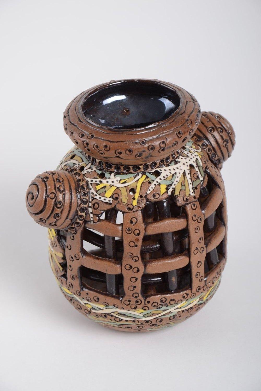 Handmade beautiful candlestick unusual clay candlestick stylish home decor photo 4