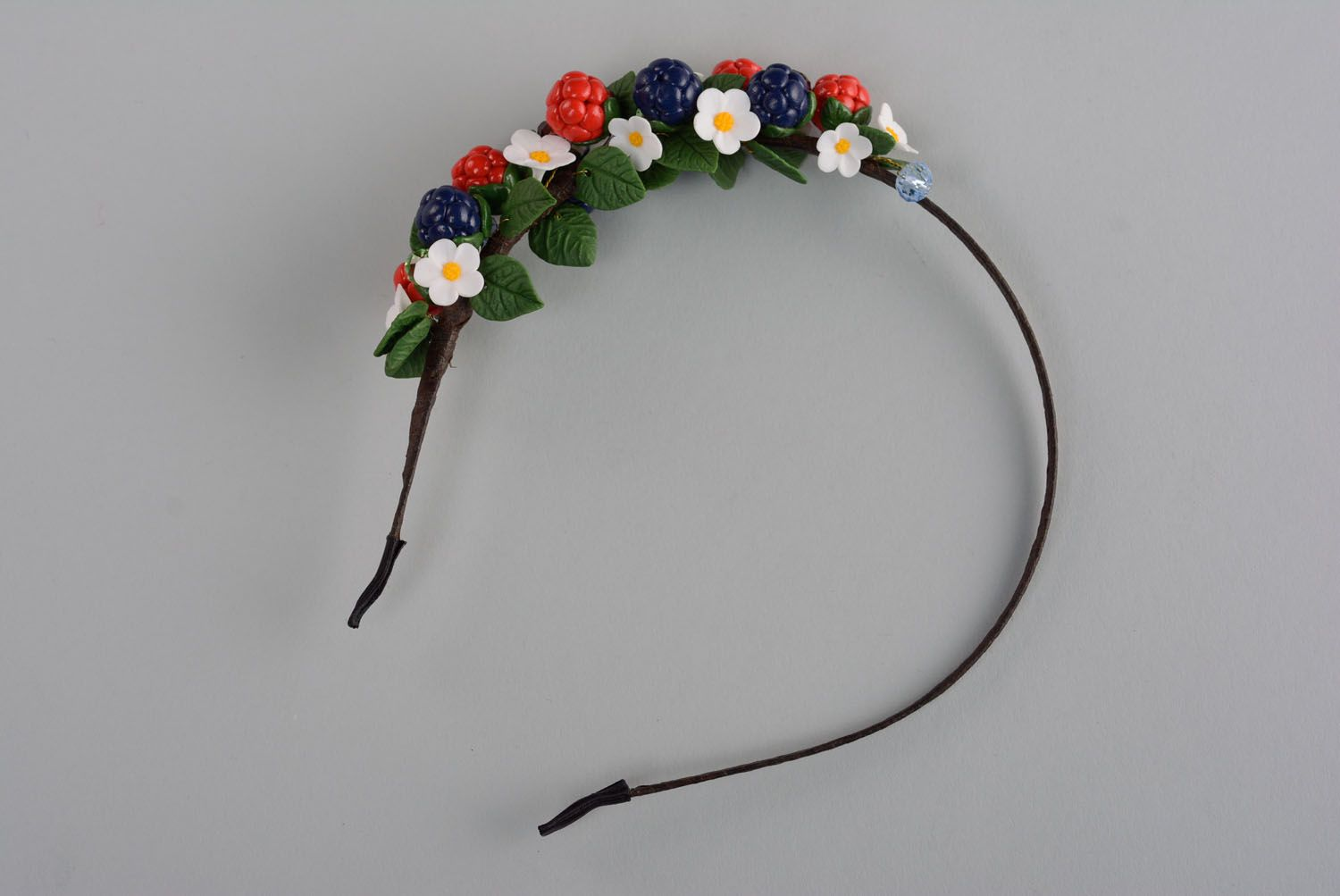 Handmade plastic headband Wild Berries photo 1