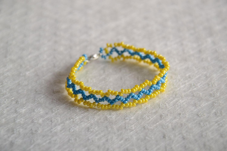 Плетем браслет из бисера фото